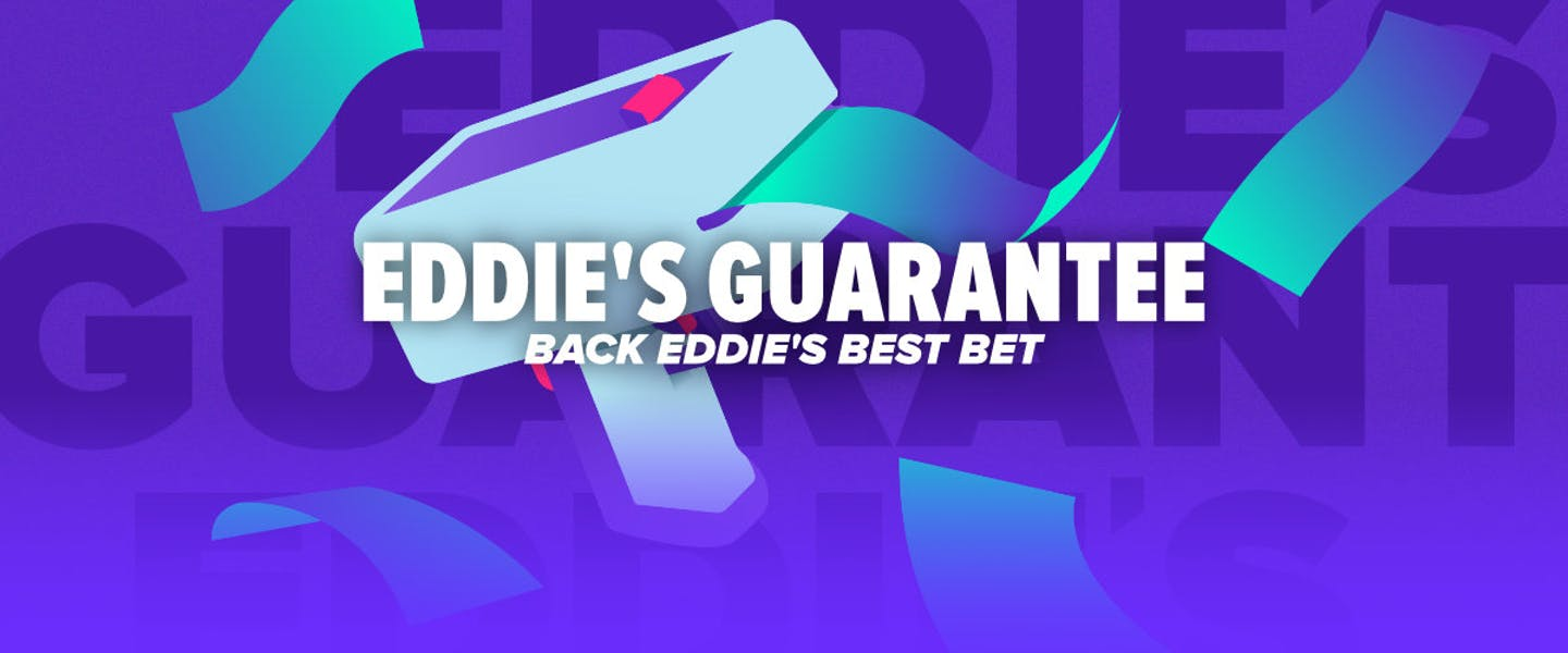 You've battled Eddie in the casino, but now you're teaming up with him! Back his best bet of the weekend, and be refunded half your Stake if it loses!