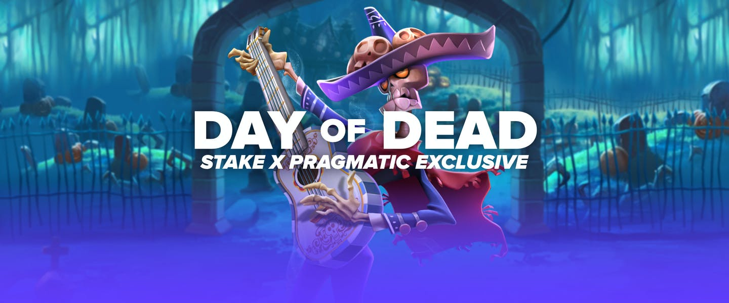 """Stake and Pragmatic are teaming up once again to bring you the amazing exclusive release of """"Day of Dead""""! Play now only on Stake!"""