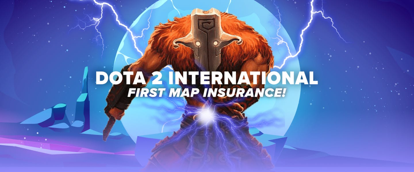 Place a bet on Dota 2 International matches, and earn your money back if your selection wins the first map, but loses the match!