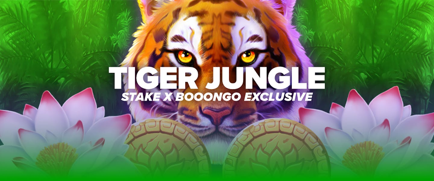 """Stake and Booongo are back again with a brand new exclusive game, """"Tiger Jungle""""! Play now exclusively on Stake!"""