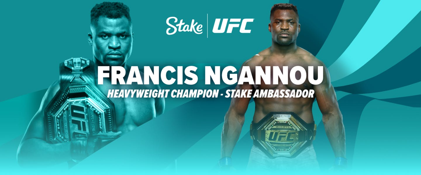 Stake is proud to announce that UFC Heavyweight Champions Francis Ngannou is our new brand ambassador!