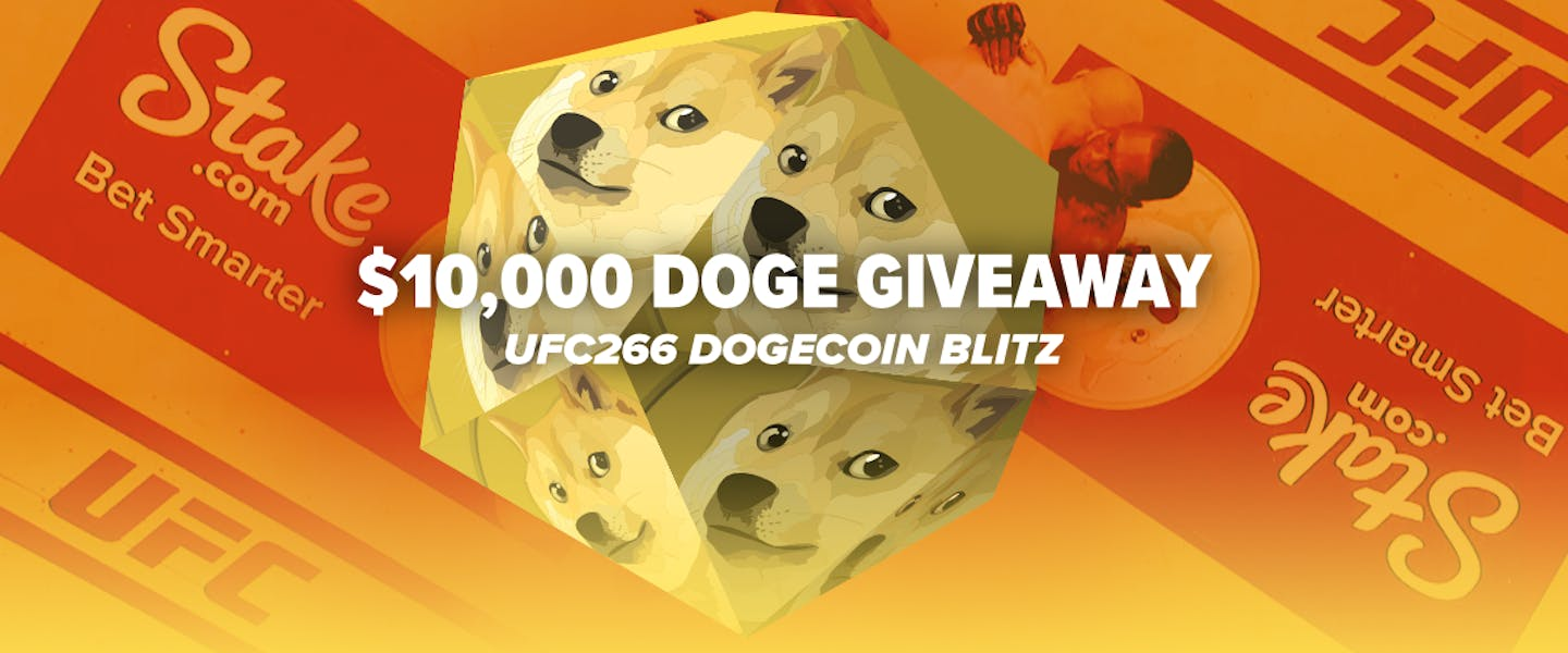 After we took our Doge to the moon at UFC 263, we're taking our logo all the way to the UFC again this weekend, and we're giving away $10,000 in Dogecoin!