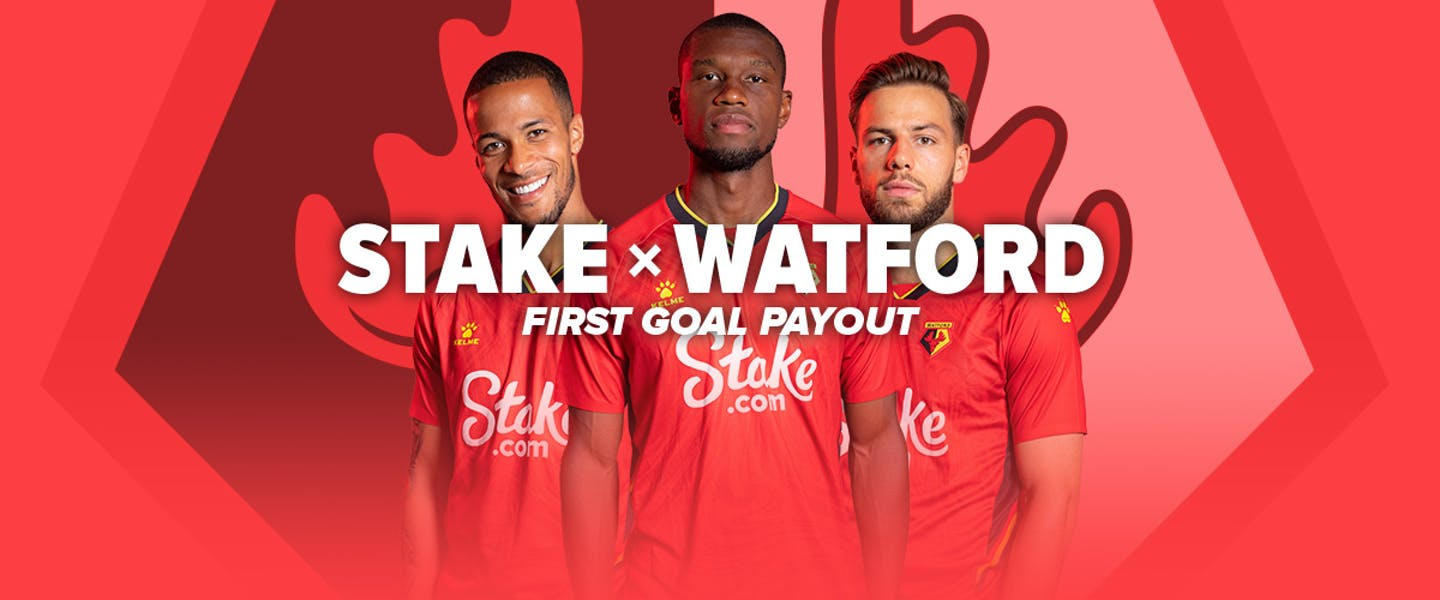 As part of our front of shirt sponsorship, we're going to pay out big time! If Watford score the first goal in any EPL match, we'll pay all Watford bets out as a winner!