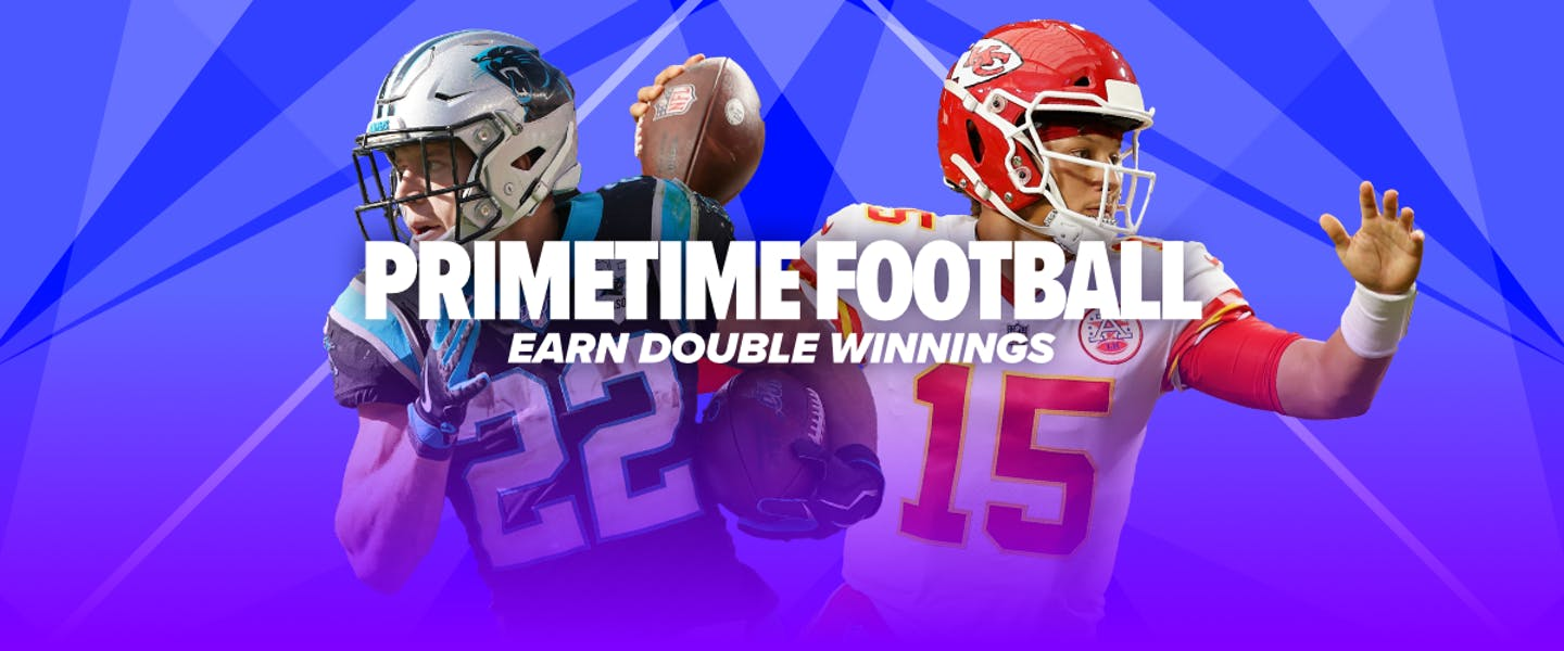 For the entirety of the NFL season, we're going to offer DOUBLE WINNINGS on every Thursday night and Monday night Football game! It's Primetime! We'll be putting the spotlight on the NFL's best players - are they going to perform and lead you to some extra profit?