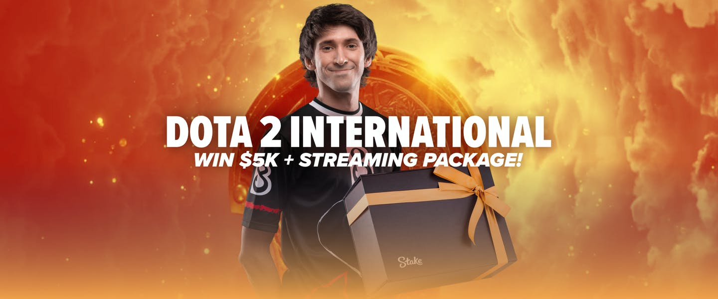 To celebrate the start of the Dota 2 International, we're going to be giving away $5,000 + a Streaming Package worth $500, to players who get involved in the Dota 2 action.