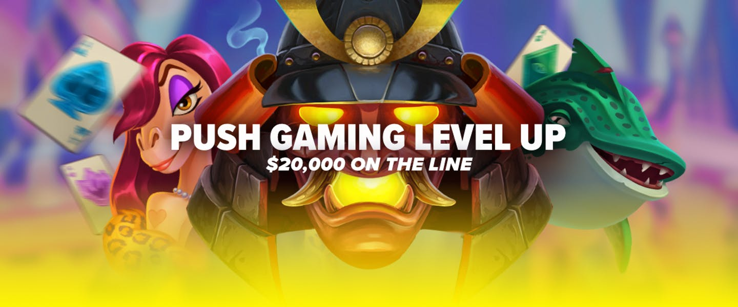 Stake and Push Gaming are back again to bring you a brand new Level Up promotion across some of the best Push Gaming titles! Play for $20,000 over the next two weeks!