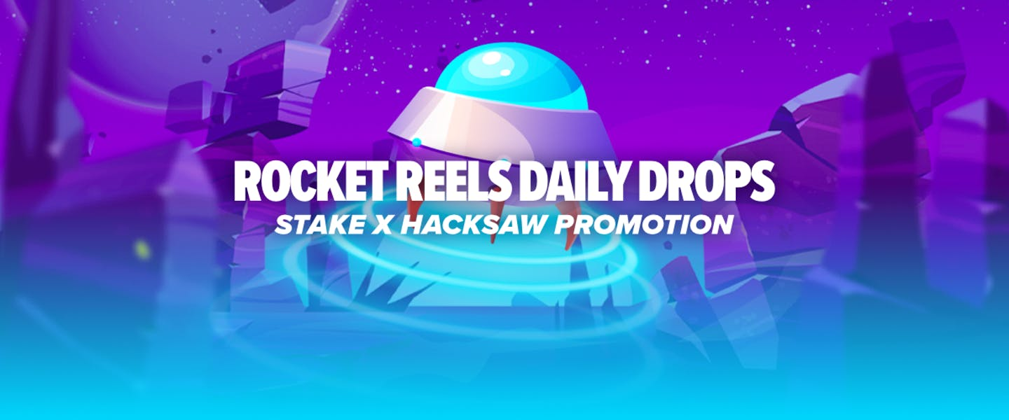 """Hacksaw's new game """"Rocket Reels"""" is live now and by playing it on Stake, you could win $200 every day as part of an amazing new daily drops promotion!"""